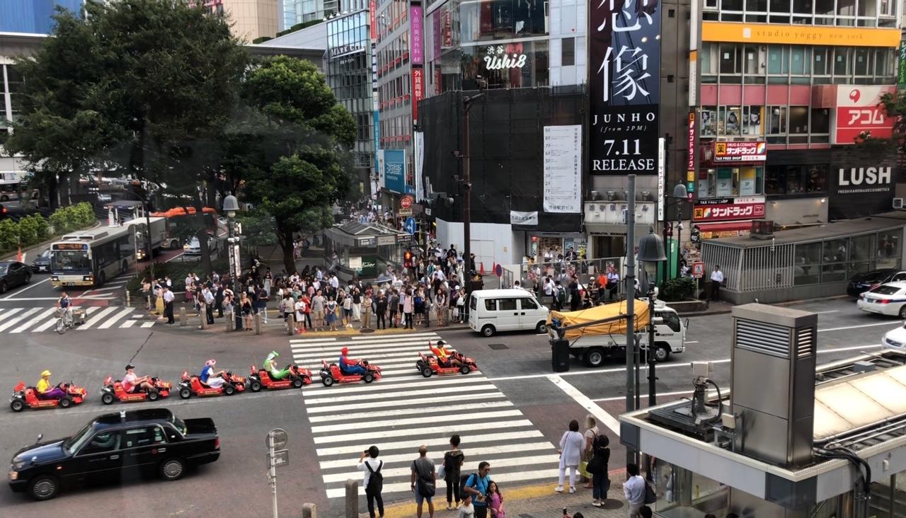 Shibuya'da Gokart Yapanlar